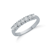 Sterling silver Cubic Zirconia Claw set Half eternity ring